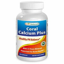 Best Naturals Coral Calcium Plus 1000 mg 250 Capsules Healthy PH Balance