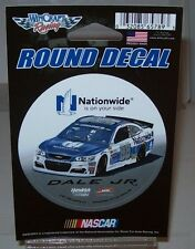DALE EARNHARDT JR #88 NATIONWIDE CAR 2017 WINCRAFT 3 INCH ROUND DECAL FREE SHIP