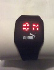 Puma LED Watch SILICONE BAND New Without Tags  (black)