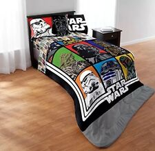 STAR WARS 4 PIece Full Sheet Set-Full Flat Sheet Full Fitted Sheet 2 Pillowcases
