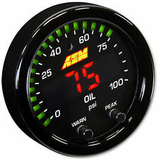 AEM X Series Digital Oil Fuel Pressure Gauge 0-100 psi Black/Black 30-0301 52mm