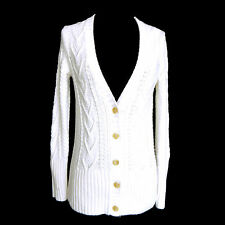 GAP NWT Ivory Cable Knit Button Front Cardigan Sweater Size XS Extra Small