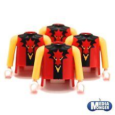 playmobil® 4 x Oberkörper rot | schwarz | Arme gelb | Drache | Ritter