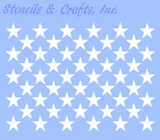 "1"" STAR ""50 STARS"" STENCIL CELESTIAL STENCILS TEMPLATE TEMPLATES BACKGROUND NEW"