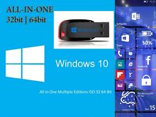 USB Flash Drive Windows 10 32/64bit Pro Home Enterprise Upgrade Repair Install