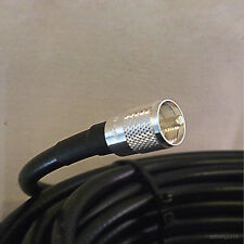 25ft N Male to PL259 Connector Times Microwave LMR-400 UHF VHF Ham Coaxial Cable