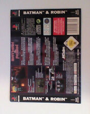 *BACK INLAY ONLY* Batman And Robin Back Inlay  PS1 PSOne Playstation