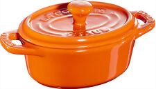 Staub Ceramica 6 pz. Set Mini Cocotte,ovale arancione 11 cm Piatto da forno