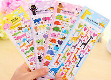 Lovely Cartoon 3D Bubble Stickers Cat Dog Giraffe Elephant for Kids Gift Toy