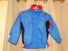 COLUMBIA Youth boys small radial sleeve bugaboo spring jacket blue black red EUC