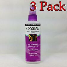 Crystal Body Deodorant Spray, Fragrance Free, 4oz, 3 Pack 086449300093A265