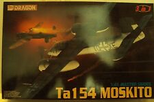 Dragon 1/48 Focke-Wulf Ta154 Moskito Fighter Lutfwaffe WWII W/Etch Kit #5522