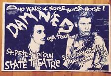 THE DAMNED CONCERT POSTER Signed #d PROOF FLYER Florida Tour PUNK ROCK Gig 1977