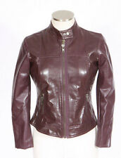 PETITE SOPHISTICATE Purple Faux Leather Cafe Moto Biker Bomber Jacket Womens 0 P
