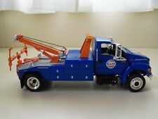 FIRST GEAR - GULF OIL - FORD F-650 JERR-DAN TOW TRUCK / WRECKER - 1/34 DIECAST