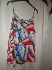 UK 18 BRAND NEW WITH TAG  FLATTERING TOP FROM  PEACOCKS RED WHITE BLUE TONES