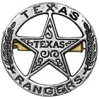 BRAND NEW TEXAS RANGERS ROUND LAW ENFORCEMENT BADGE SOLID METAL MILITARY