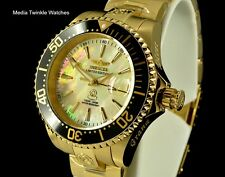 Invicta Women's 38mm Grand Diver AUTOMATIC GoldTone & Black Diamond Crown Watch