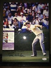 Tom Watson Signed/Auto 11x14 Photo 2x Masters Champion 1977 & 1981 JSA