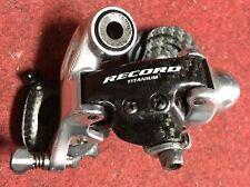 Campagnolo Record titanium carbon bike rear derailleur 10 cambio posteriore bici
