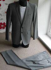 JAEGER UK 40R,IT 50R mens light grey suit ,100% Authentic,wool ,2 buttons