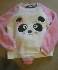 New. Ladies Fleecy Panda Pyjamas. Super Soft.  Size 12/14. Medium