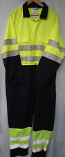 "Navy Blue & Yellow Hi-Vis Overall – 52"" Regular"