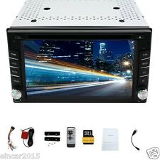 6.2''Touch screen Dual 2Din Car DVD Player GPS Radio DVD SD USB Bluetooth Stereo