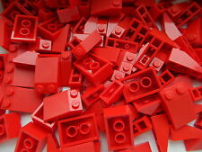 LEGO Roof Slopes Tiles # RED 1x3 2x3 1x2 # pack of 100 pieces # BRAND NEW