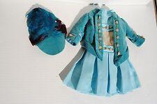 Blue Outfit Dress Jacket Hat For Antique Bisque Doll Jumeau Bru Kestner Steiner