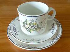 Lily of the valley design doverstone thé/tasse à café, soucoupe & plaque latérale (lot 1)