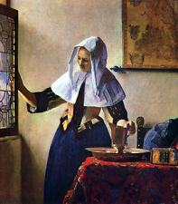 """Huge art Oil painting Johannes Vermeer - Young Woman with a Water Jug canvas 36"""""""