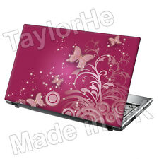 "15.6"" Laptop Skin Cover Sticker pink butterflies 102"