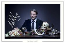MADS MIKKELSEN HANNIBAL AUTOGRAPH SIGNED PHOTO PRINT LECTER