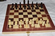 """15"""" standard wooden chess set 2.5"""" king  checkers and backgammon game 3 in one"""