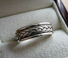925 STERLING SILVER ROPE DESIGN BAND THUMB MENS WOMENS RING SIZE U US 10.5