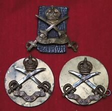 WWI CANADA ARMY PHYSICAL TRAINING INSTRUCTOR MATCHED SET - CAP & SHOULDER BADGE