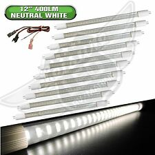 "10 X New LED T5 12"" 12v 400 LUM Tube Light Fixture Camper trailer RV Boat 12Volt"
