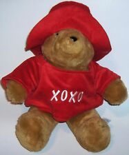 PADDINGTON BEAR  Red Hat & Shirt    Plush Stuffed Animal
