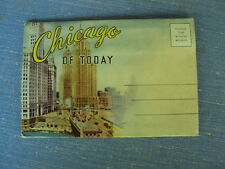 Vtg Souvenir Fold Out Chicago Postcard Stock Yard Wrigley Central Station Views