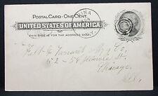 Postal History us post card 1898 target cancel One Cent-estados unidos postal (l-2284