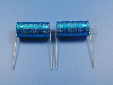 2pcs 100V 15uF Audio Speaker Divider Non-Polarized Axial Electrolytic Capacitor