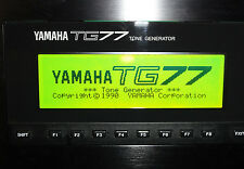 NEW LCD Yellow/Green display for Yamaha TG77 Synth DIY Replacement Repair