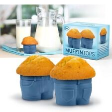 Fred Set Of 4 Silicone Muffin Tops Cupcake Sugarcraft Baking Cups Moulds