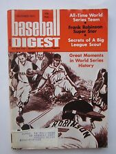 Baseball Digest Oct 1971 with World Series Cover Label Vintage Vg/Ex Condition
