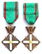 Chevalier ORDRE NATIONAL du MÉRITE République Italiénne. ITALY. Argent/ Silver