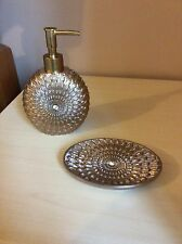 Adore Bath Decor Soap Dispencer & Soap Dish New Colour Beige New
