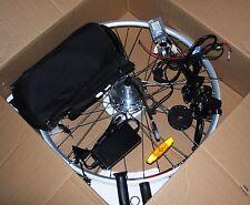 """bicicletta elettrica kit elettrificazione anteriore 26 """" x batteria  piombo v 24"""