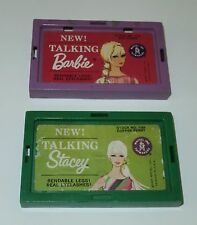 Vintage TALKING BARBIE & STACEY BOX TOPS ONLY Stand Base