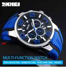 SKMEI Men's Analog waterproof  chronograph date Sports Watch blue